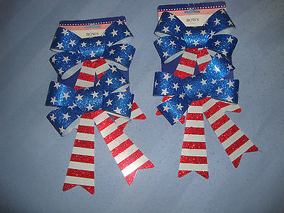 Decorative Red White & Blue Forth Of July Bows