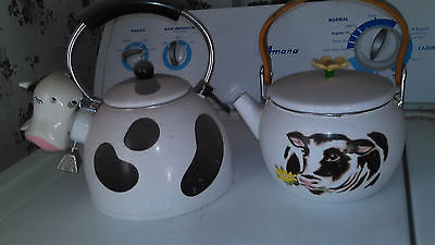 2 Old Cow Teapots