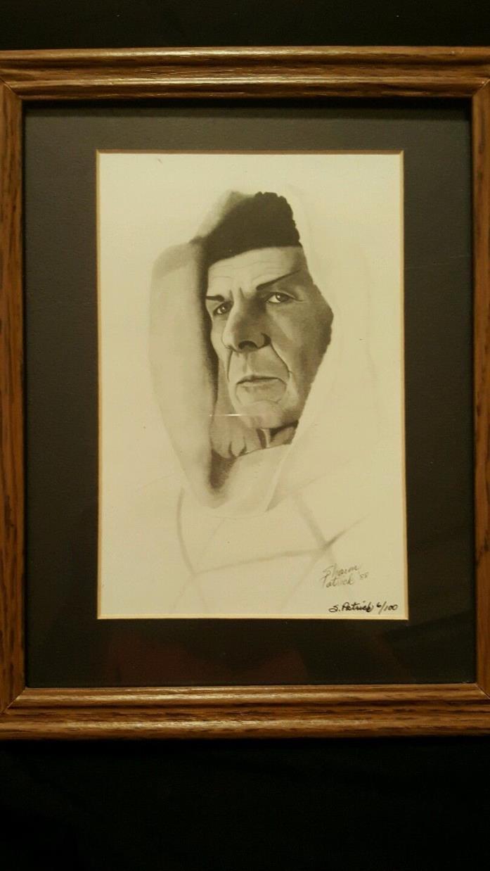Leonard Nimoy as Dr Spock in Star Trek framed print