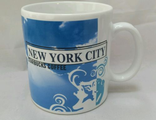 STARBUCKS New York City LARGE Coffee Mug Pre-Owned 1998 Collectible NICE!!