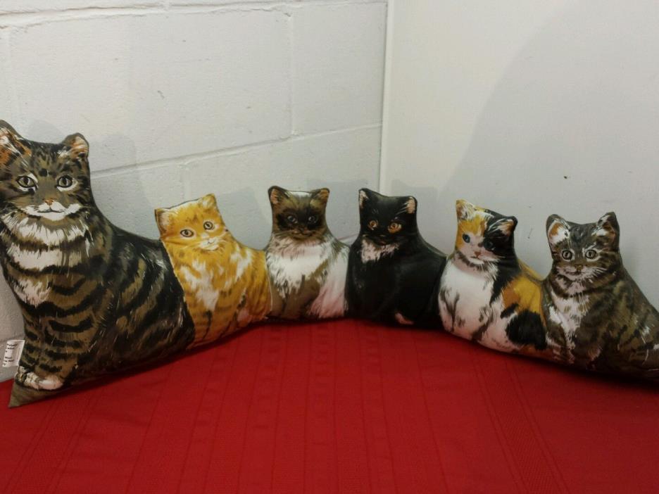 Cat Draft Stopper Door Stop Block Drafts Print on 2 Sides Feline Pet Decor