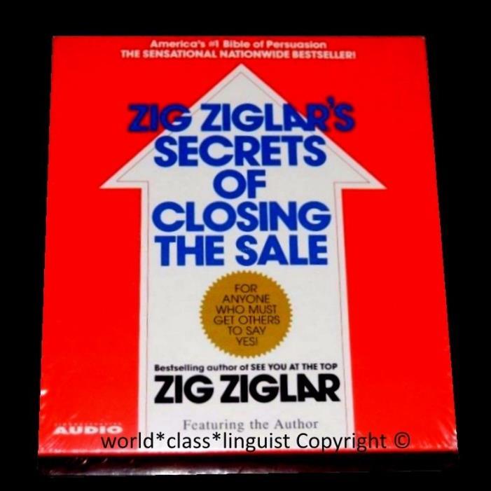 ? NEW Selling techniques Persuasion Zig Ziglar Secrets of Closing the Sale 4 CD