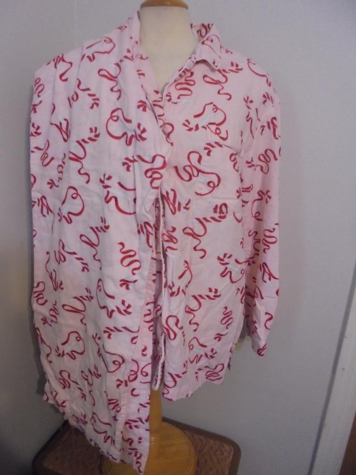 Victoria's Secret L Pink sweet candy Flannel Pajama PJ Set