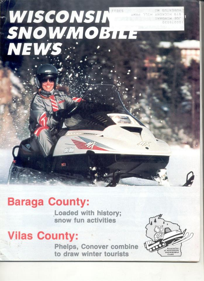 1991 Vintage SNOWMOBILE MAGAZINE 1992 Ski-Doo Formula MX ss Arctic Cat Kitty Kat