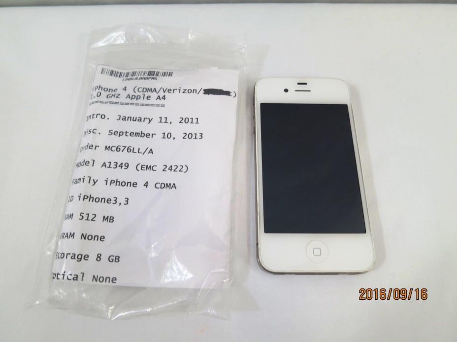 Apple iPhone 4-8GB -White (Verizon)