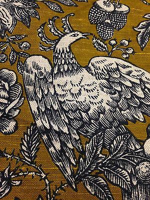 Vintage Linen Upholstery Fabric Confab Screen Print Scothchgard 56