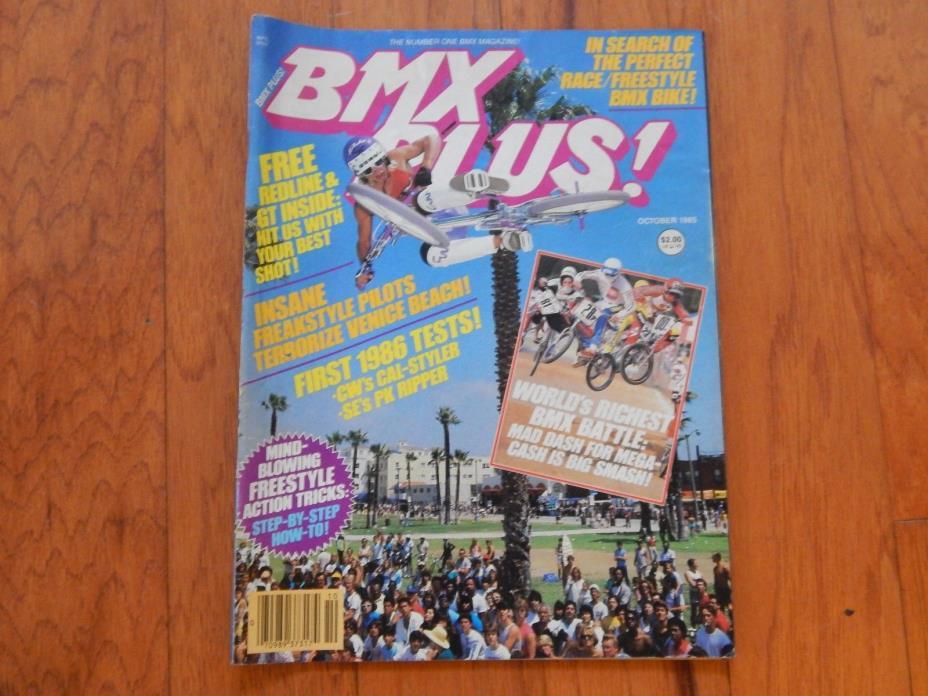 BMX Plus! October 1985 - Vintage 1980s BMX Magazine
