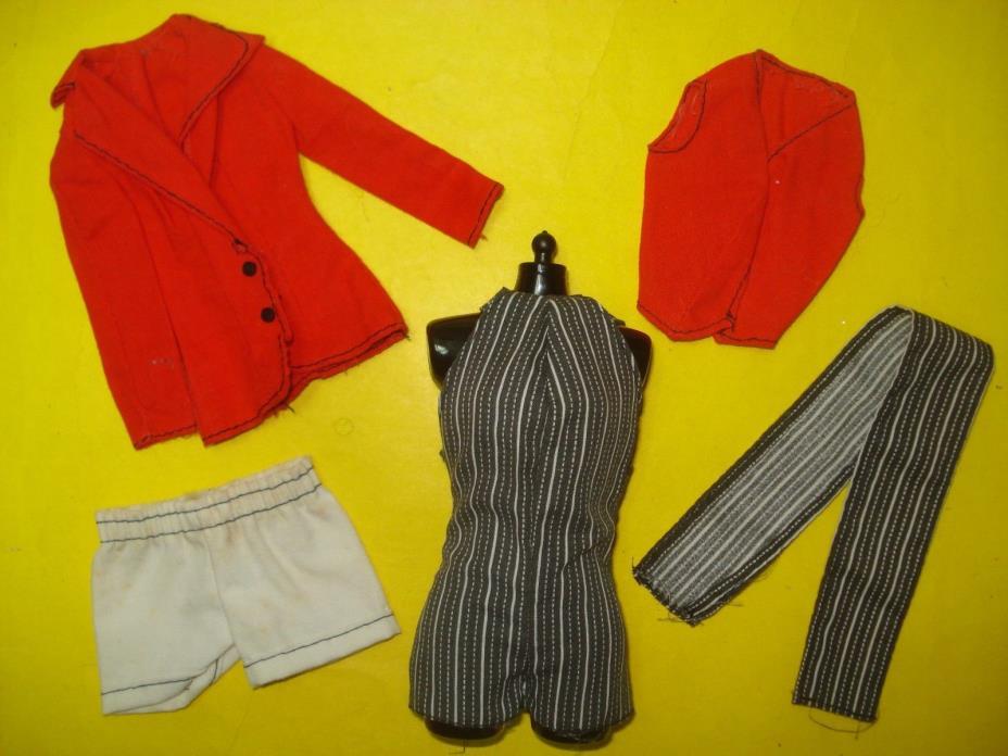 Vtg Barbie Superstar Best Buy 70s Doll Clothes Lot SEARS Pinstripe Set 1978 2579