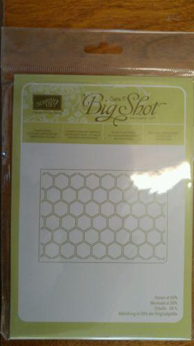 Stampin up sizzix big shot honeycomb embossing folder