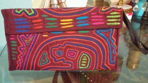 Handbags made with molas from panama