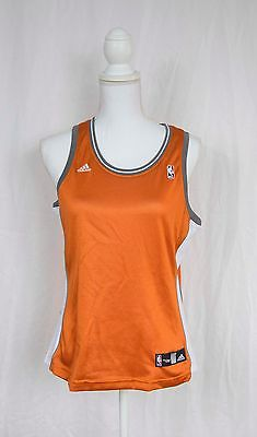 NWOT Adidas women's orange NBA basketball jersey, M