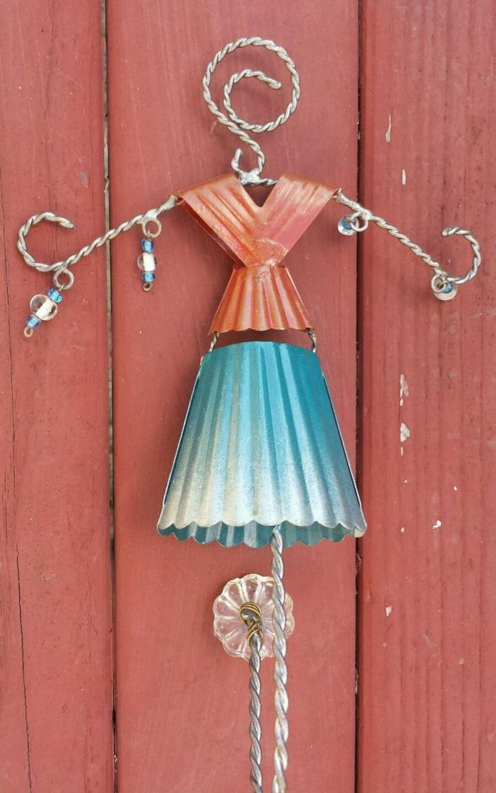 Blue/ Brown Hanging Wall Decor Metal Wire Dress Beads Display Jewelry Holder