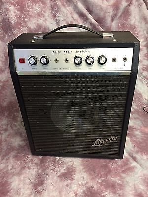 Vintage 1971 Solid State Lafayette Univox guitar amplifier with reverb