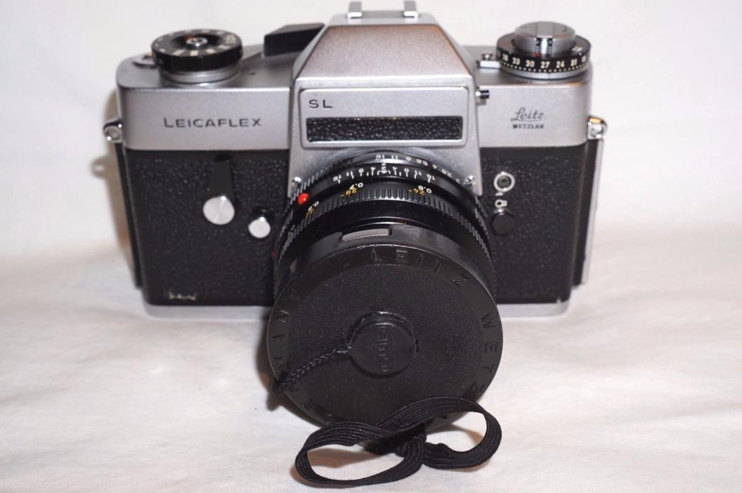 Leicaflex SL 35mm Film Camera Lens and Case