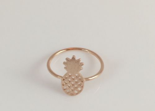 Fashion Juicy Simple Pineapple Rose Gold  Ring