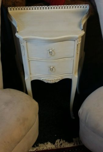 Antique night stand, shabby chic french antique