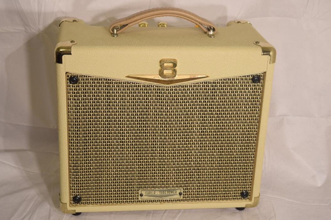Crate Palomino Series 8 Clase A Tube Amplifier - Tested - Cream + Gold