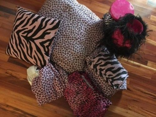 Zebra & Leopard Print Full Size Bedding Set