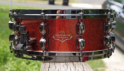 Tama Starclassic Bubinga Snare Drum Marigold Sparkle Lacquer!