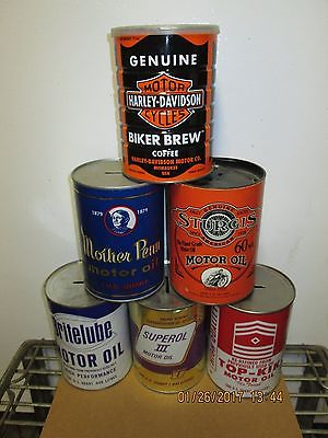Oil Can Bank's - Motor Oil - Harley - Sturgis
