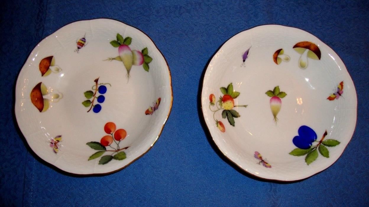 Herend Fruit Dishes Set in Fruits & Flowers  #329/FR