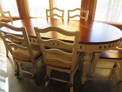 Kitchen table with 6 chairs,costume made,all wood.