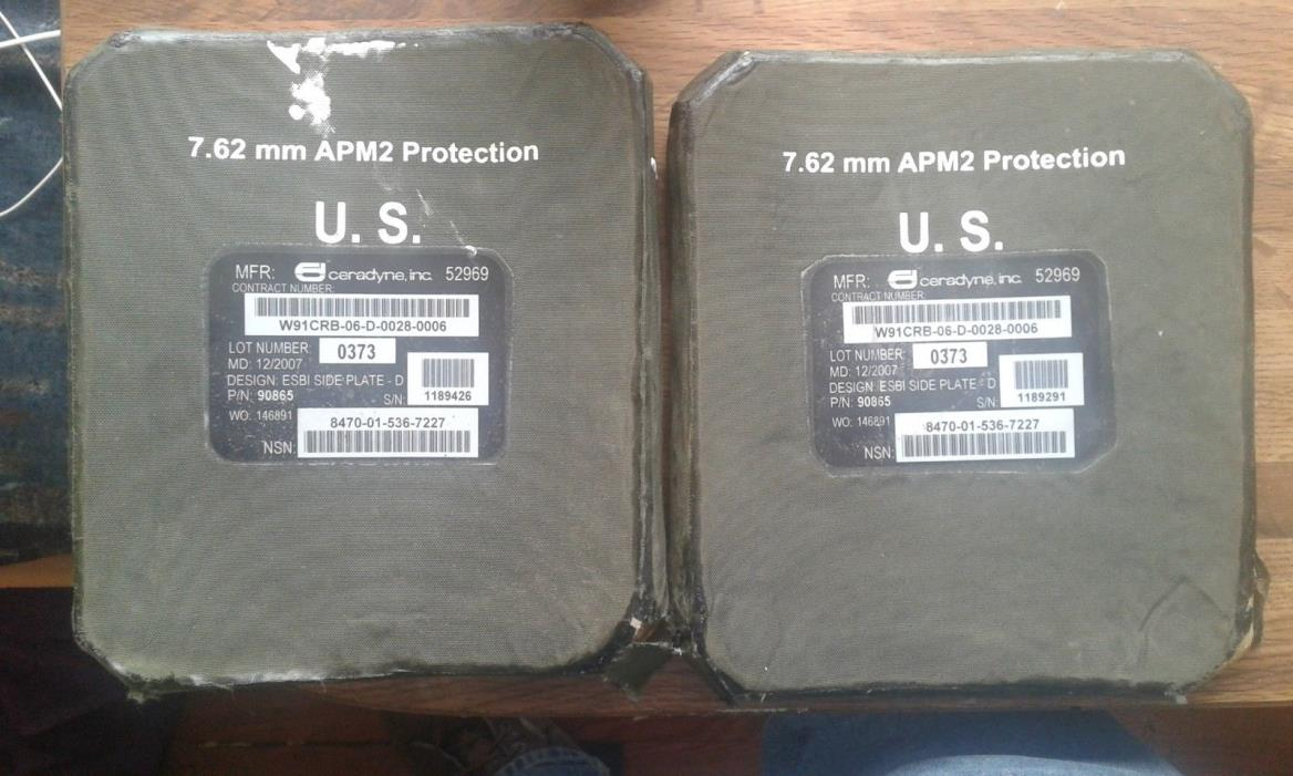 7.62mm APM2 Protection Body Armor, side plates