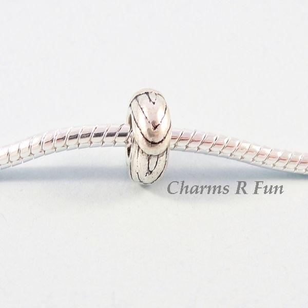 Silver stopper bead fits European charm bracelet