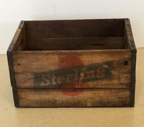 Vintage Wood Beer Crate Sterling Brewers Evansville Indiana Advertising
