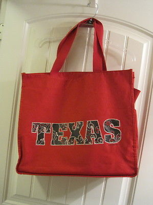 Texas Canvas Large Tote Bag
