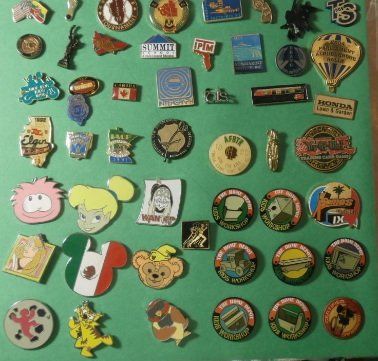 Lot of 50 Pins - Disney - Home Depot  - Places & lots More