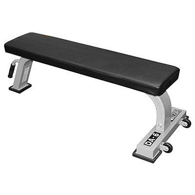 Flat Workout Bench, 7 Dumbbell sets & 2-tier Rack