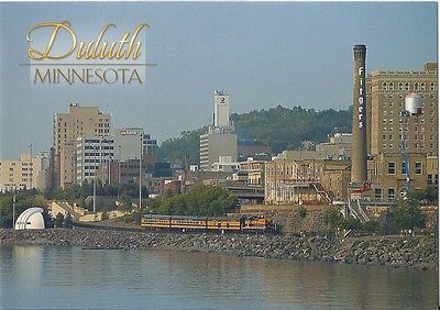 Postcard MN Duluth North Shore Scenic Railroad Lester River Excursion MINT