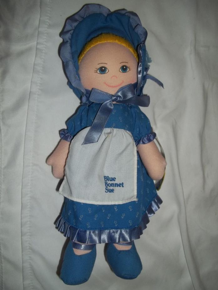 BLUE BONNET SUE STUFFED DOLL WITH TAG