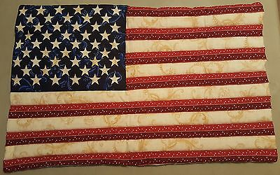 flag usa americana patriotic wall hanging decor quilted handmade