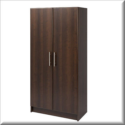 Kitchen Pantry Cabinet Storage Organizer Cupboard Tall Espresso 2 Door Furniture