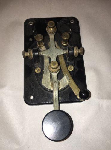 Vintage/Antique J-38 Telegraph Key or Bug  brass & Bakelite