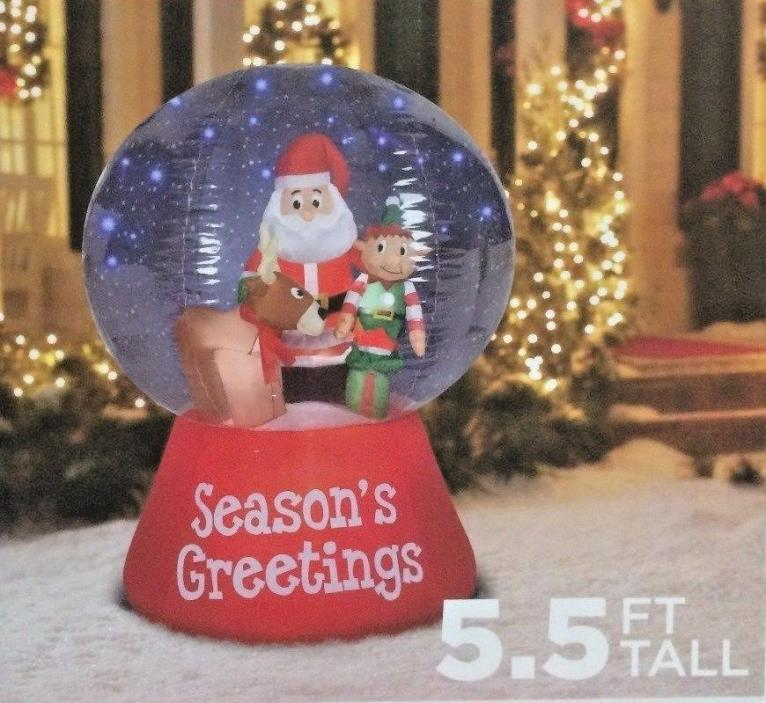 BZB Goods 6 Foot Tall Lighted Christmas Inflatable Santa Claus Decoration