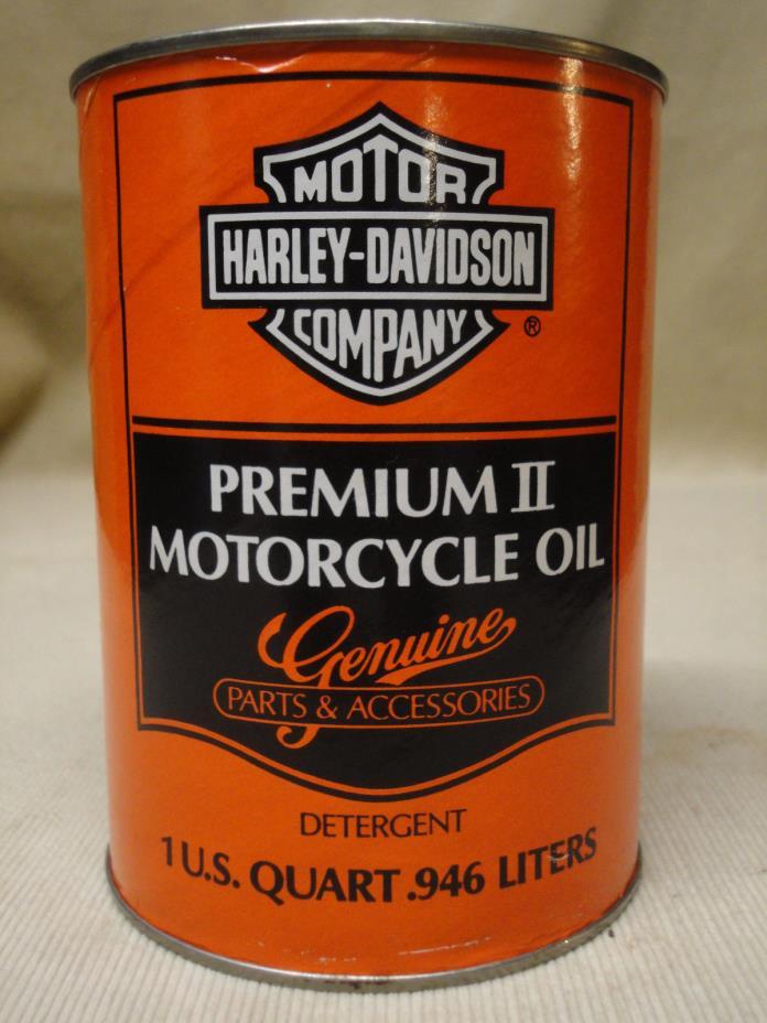 Vintage Harley Davidson Quart Oil Can Premium II Cardboard Unopened Excellent