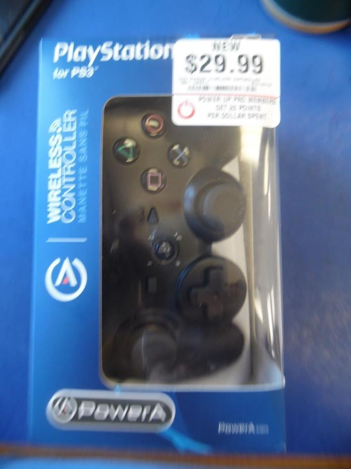 Power A Wireless PS3 Controller (Black) Playstation Gamepad K458