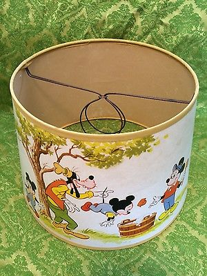 Vintage Walt Disney Lamp Shade / Mickey Mouse