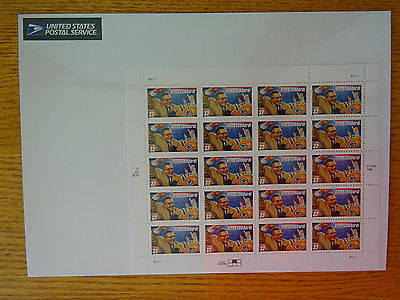 Football Coach Vince Lombardi, #3147, 1997 U.S. Postage 32¢ 20 Stamp Sheet, MNH