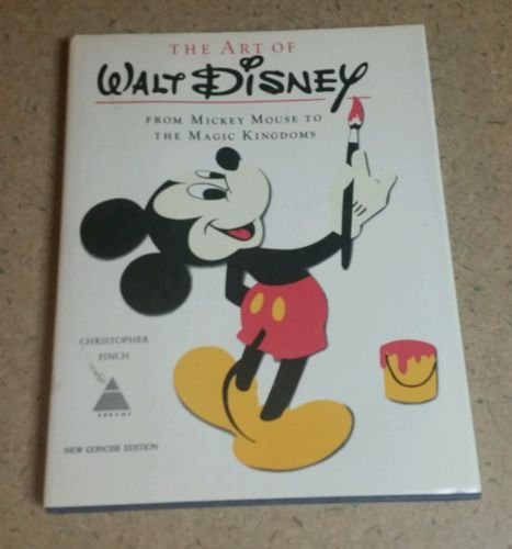 Vintage The Art of Walt Disney, 1975, Christopher Finch, Cartoon Art