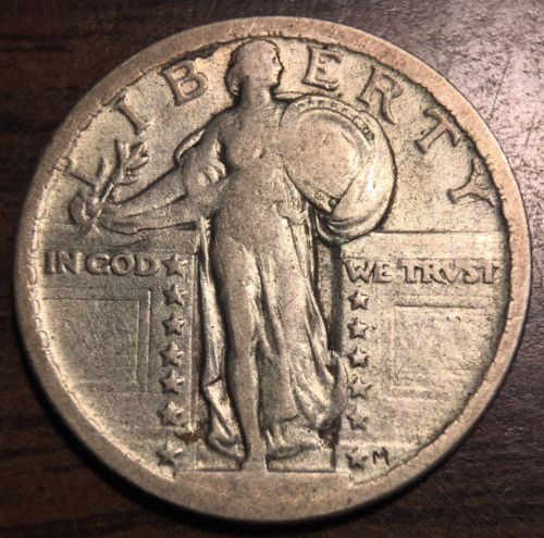 1917 25C Type 2 Standing Liberty Quarter