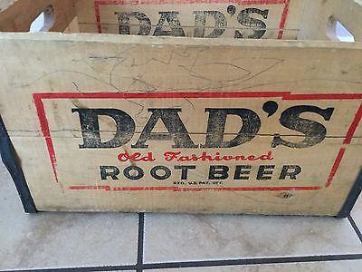 Dad's Root Beer Wooden Crate