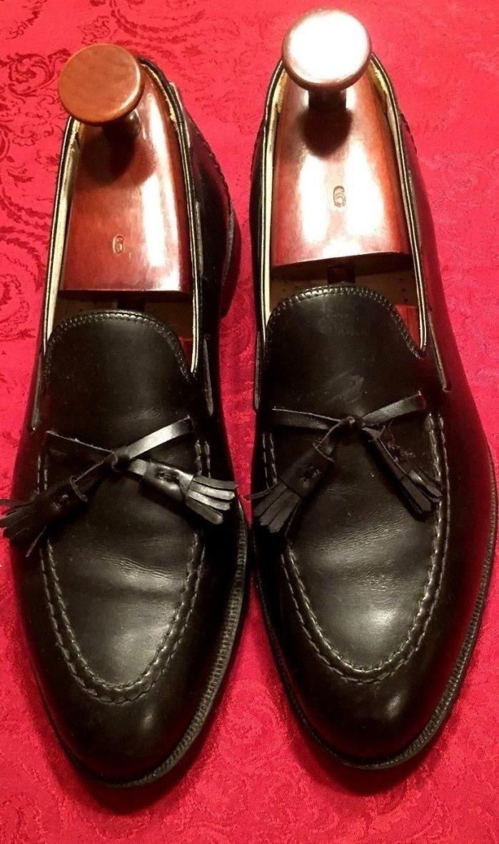 VTG Cole Haan Black Tassel Loafers Made in USA Classic Black Dress Shoe SZ 11 W