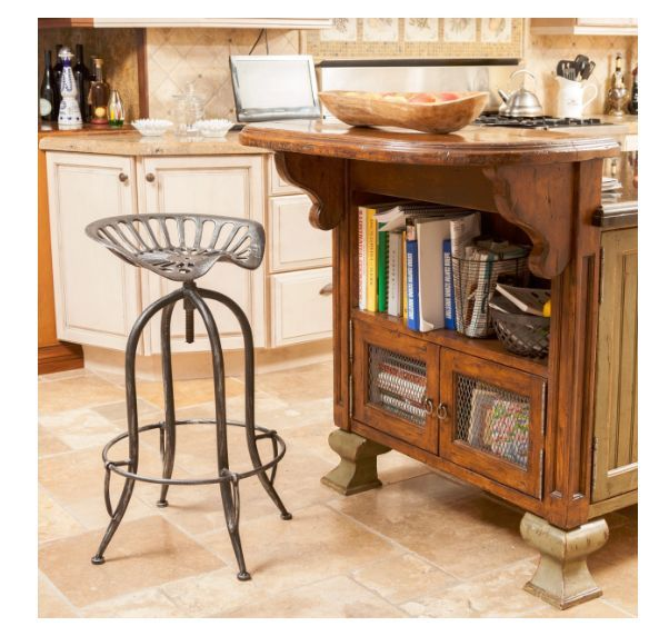 Tractor Seat Bar Stool Rustic Saddle Rancher Kitchen Living Room Accent Decor