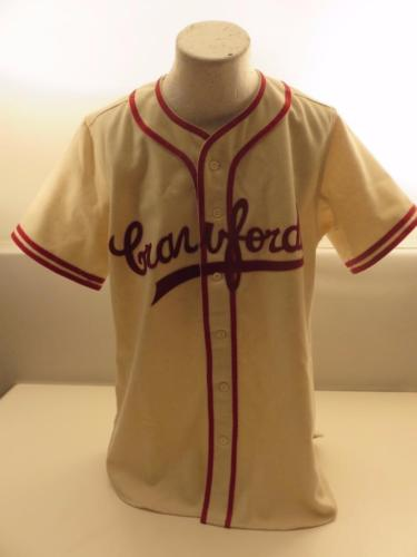 Pittsburgh CRAWFORDS Wool Baseball Jersey Ebbets Field Flannels Size M