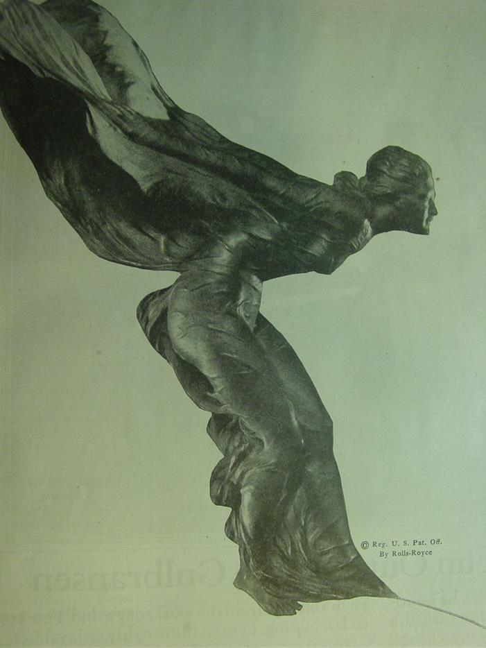 1924 ROLLS ROYCE , DUNLOP TIRE AD & GULBRANSEN THE REGISTERING PIANO AD