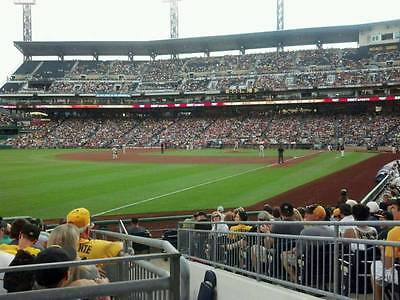 1-6 Milwaukee Brewers @ Pittsburgh Pirates PNC Park Tickets 5/6/17 Sec 131 Row E
